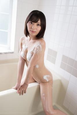 Chiaki Narumi Swimsuit Gravure Beige Bikini Bubble Bra038