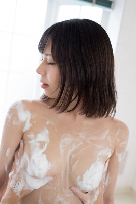 Chiaki Narumi Swimsuit Gravure Beige Bikini Bubble Bra043