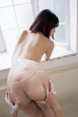 Chiaki Narumi Swimsuit Gravure Beige Bikini Bubble Bra045