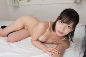 Chiaki Narumi White bikini White bikini String bikini013