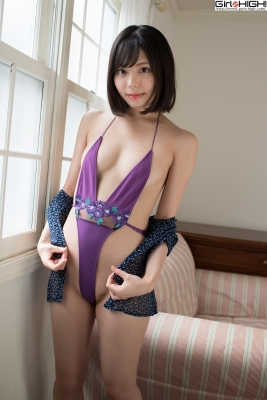 Chiaki Narumi Ultrasmall highlegged deformed swimsuit022