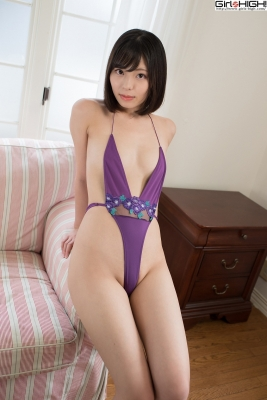 Chiaki Narumi Ultrasmall highlegged deformed swimsuit029