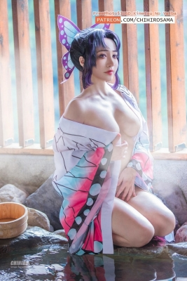 Cosplay Hot Springs Nude Bathing Blade of the Annihilation Kanadeko Kamon Kanaye Butterfly Mitsuri Ganroji002