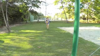 Minami Yamada Swimsuit Gravure Beach Volleyball Sunset Beach 2020006