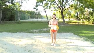 Minami Yamada Swimsuit Gravure Beach Volleyball Sunset Beach 2020020