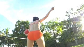 Minami Yamada Swimsuit Gravure Beach Volleyball Sunset Beach 2020028