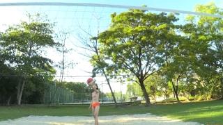 Minami Yamada Swimsuit Gravure Beach Volleyball Sunset Beach 2020036