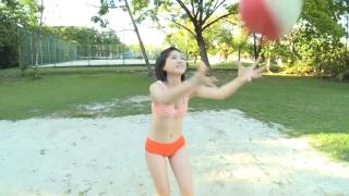Minami Yamada Swimsuit Gravure Beach Volleyball Sunset Beach 2020042