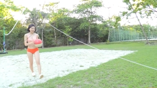 Minami Yamada Swimsuit Gravure Beach Volleyball Sunset Beach 2020061