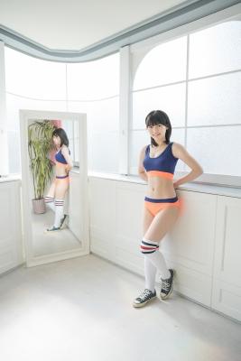 Risa Sawamura, track and field team uniformgrayorange, sportswear001