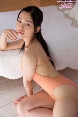 Shizuka Miyazawa Swimming Race Swimsuit Images Orange004