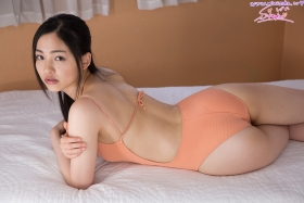 Shizuka Miyazawa Swimming Race Swimsuit Images Orange023