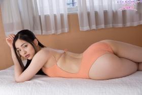 Shizuka Miyazawa Swimming Race Swimsuit Images Orange025