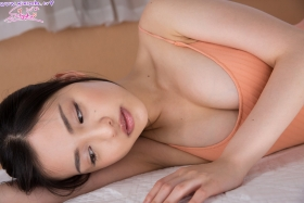 Shizuka Miyazawa Swimming Race Swimsuit Images Orange029