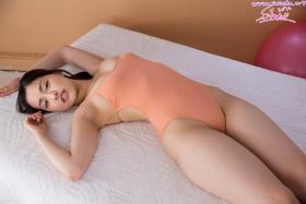 Shizuka Miyazawa Swimming Race Swimsuit Images Orange035