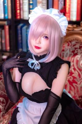 Cosplay Swimsuit Style Costume Marsh Kirielight Sakura Magiri Saber Glasses Maid FateGrand Order FGO025