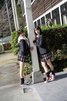 Goto Mashiro Kikuchi Hina Swimsuit Gravure Good friends JK duo 2021004