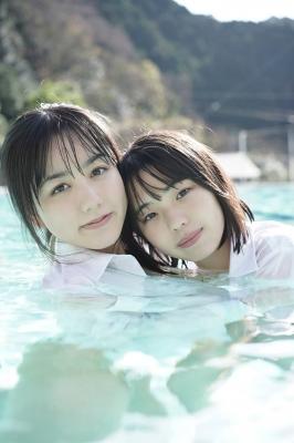 Goto Mashiro Kikuchi Hina Swimsuit Gravure Good friends JK duo 2021005