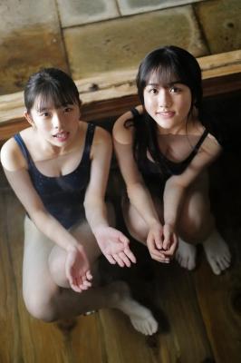 Goto Mashiro Kikuchi Hina Swimsuit Gravure Good friends JK duo 2021009