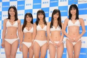 White bikinis of the award-winning goddesses of Miss Magazine 2018021