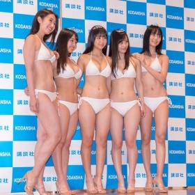 White bikinis of the award-winning goddesses of Miss Magazine 2018031