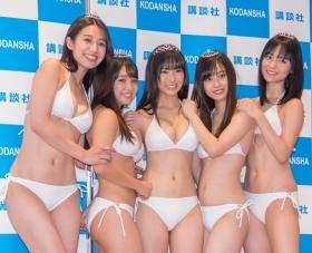White bikinis of the award-winning goddesses of Miss Magazine 2018037
