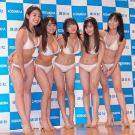 White bikinis of the award-winning goddesses of Miss Magazine 2018053