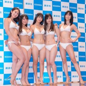 White bikinis of the award-winning goddesses of Miss Magazine 2018058
