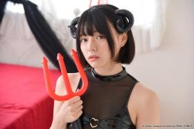 Tsubasa Hazuki Swimsuit Gravure Cosplay Devil Devil Small Devil Bikini033