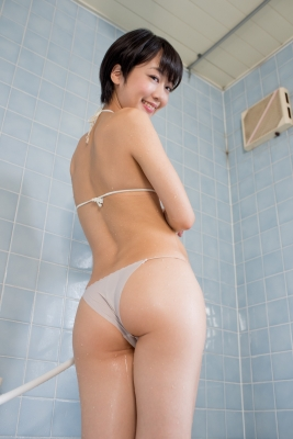 Koharu Nishino White Swimsuit String Bikini Shower Bathroom006