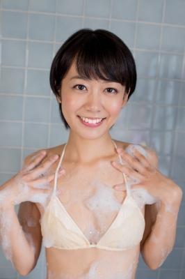 Koharu Nishino White Swimsuit String Bikini Shower Bathroom012