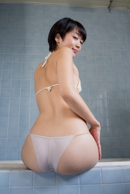 Koharu Nishino White Swimsuit String Bikini Shower Bathroom017