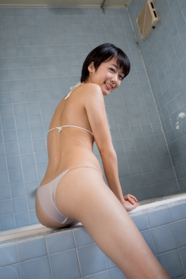 Koharu Nishino White Swimsuit String Bikini Shower Bathroom020