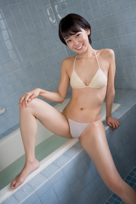 Koharu Nishino White Swimsuit String Bikini Shower Bathroom022