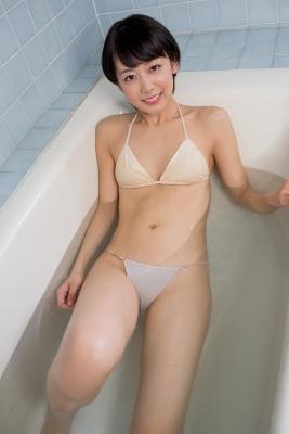 Koharu Nishino White Swimsuit String Bikini Shower Bathroom027