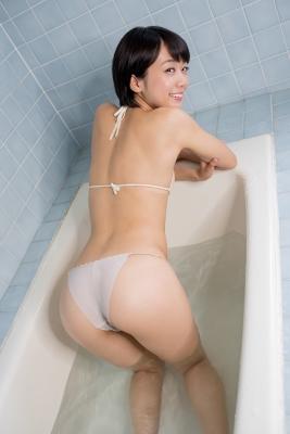 Koharu Nishino White Swimsuit String Bikini Shower Bathroom031