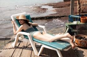Kazusa Okuyama swimsuit gravure019