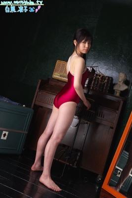 Ryoko Shirakuma Red School Swimsuit005