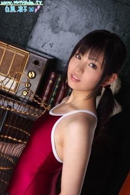 Ryoko Shirakuma Red School Swimsuit009