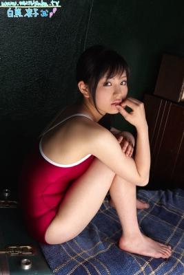 Ryoko Shirakuma Red School Swimsuit040