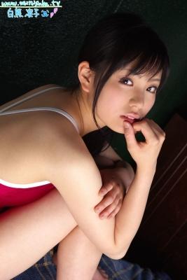 Ryoko Shirakuma Red School Swimsuit041