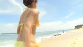 Ikumi Hisamatsu Yellow SwimsuitBikiniSheetTropical Beach001