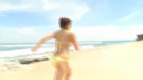 Ikumi Hisamatsu Yellow SwimsuitBikiniSheetTropical Beach006