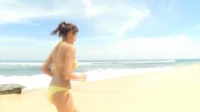 Ikumi Hisamatsu Yellow SwimsuitBikiniSheetTropical Beach007