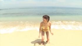 Ikumi Hisamatsu Yellow SwimsuitBikiniSheetTropical Beach010