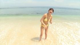 Ikumi Hisamatsu Yellow SwimsuitBikiniSheetTropical Beach011