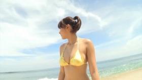 Ikumi Hisamatsu Yellow SwimsuitBikiniSheetTropical Beach012