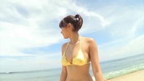 Ikumi Hisamatsu Yellow SwimsuitBikiniSheetTropical Beach013