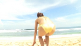 Ikumi Hisamatsu Yellow SwimsuitBikiniSheetTropical Beach016