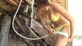 Ikumi Hisamatsu Yellow SwimsuitBikiniSheetTropical Beach062